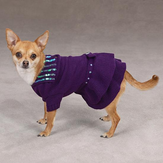 Вязаные платья для собак